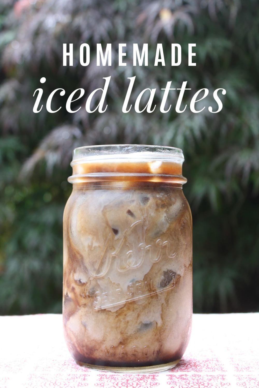 Homemade iced lattes and mochas in 2020 mocha recipe