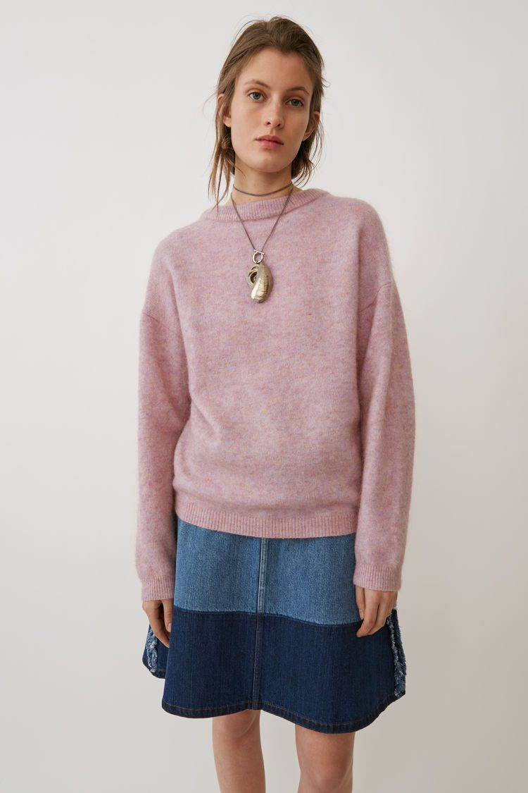 Acne Studios Dramatic Mohair dusty pink is an oversized classic mohair  sweater in a plain jersey stitch. 0316a5ff384