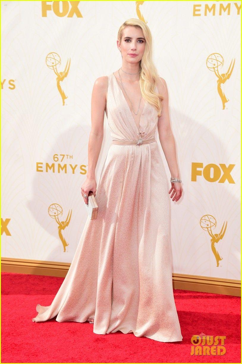 emma roberts evan peters emmy awards red carpet 01 Emma Roberts ...