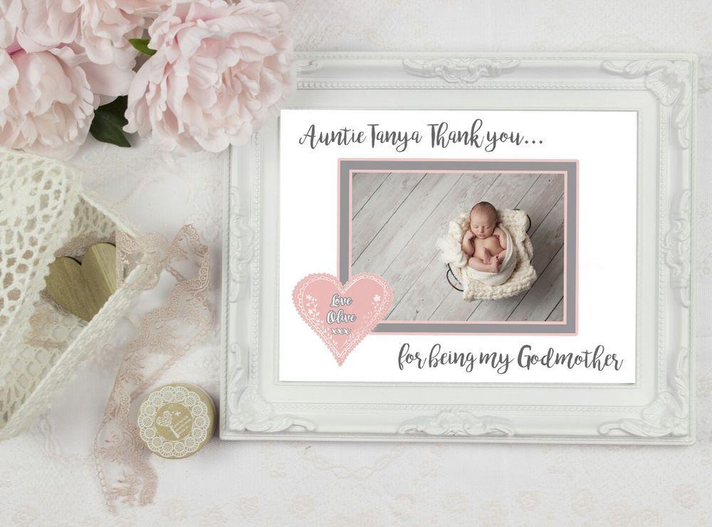 Personalised Thank you Godparent(s) Godfather Godmother Christening ...