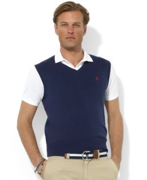 Polo Ralph Lauren Men's Sweater Vest, Core Solid Sweater Vest ...