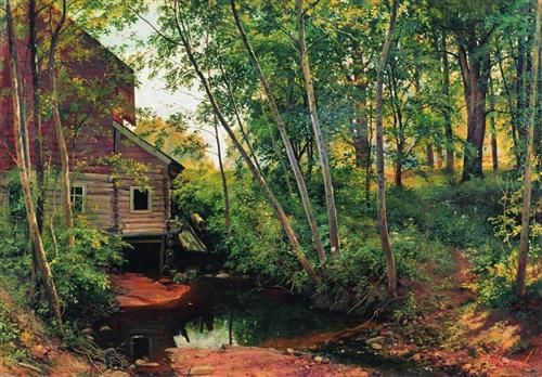 Mill in the forest. Preobrazhenskoe - Ivan Shishkin