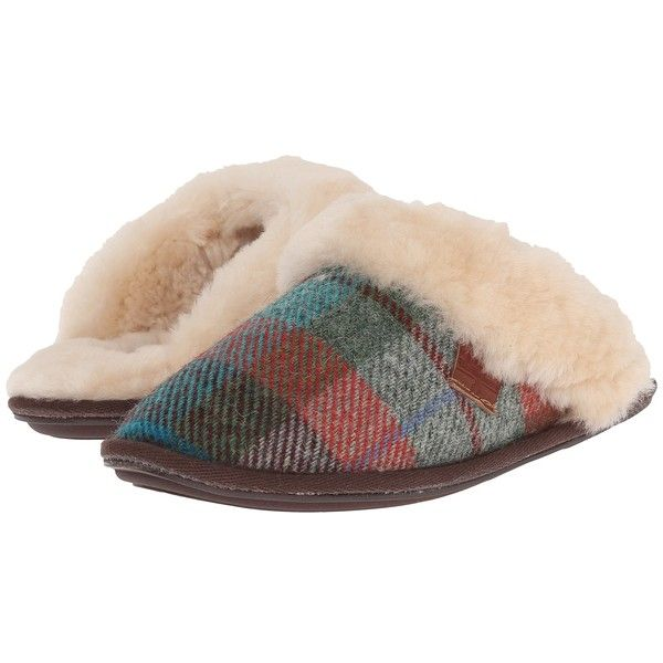 Bedroom Athletics Kate Harris Tweed Women's Slippers (200 TND) ❤ liked on  Polyvore featuring