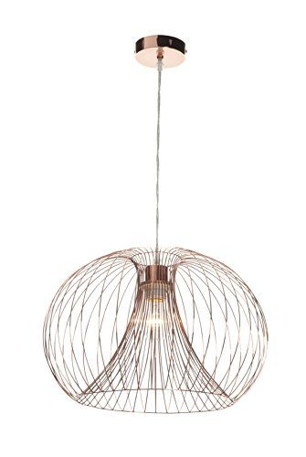 Contemporary modern copper wire ceiling pendant chandelier light shade  Saxby http:/