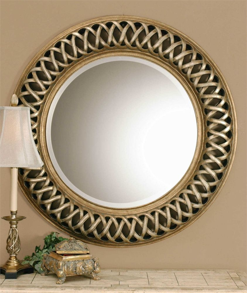 Over Desk Uttermost Entwined Antique Gold Mirror Antique