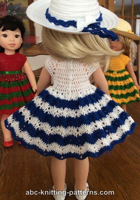 Free Doll Dress Crochet Pattern | baby born | Pinterest ...