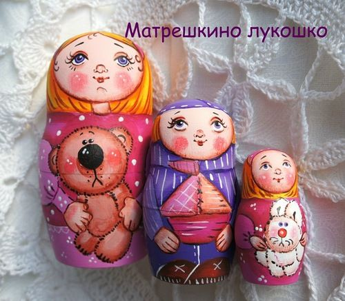 """Матрешкино лукошко: Матрешка """"Сестренки и братишки"""""""