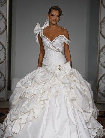 Pnina Tornai-Taffeta Straps Wedding Dress