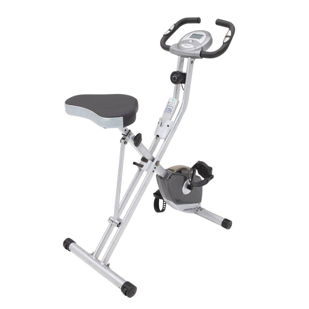 Folding White Fitness Stationary Upright Indoor Exercise Bike Body