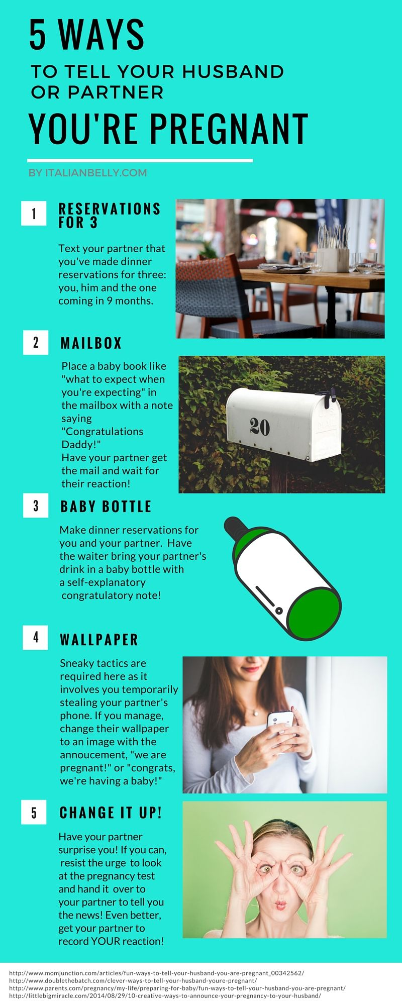 5 creative ways to tell your husband youre pregnant