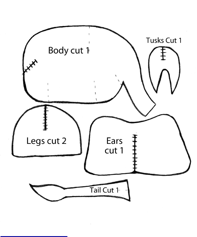 Cardboard Elephant Template