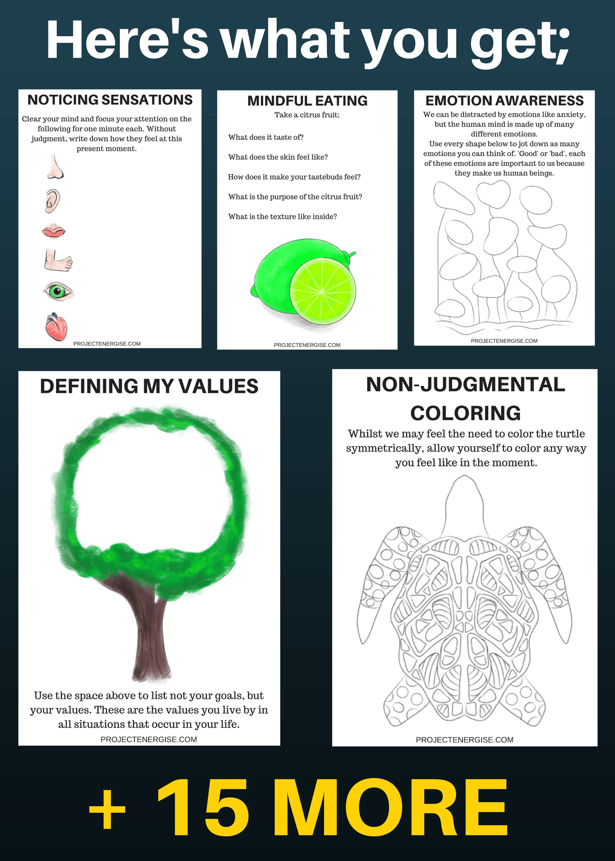 25 Beautiful Printable Mindfulness Worksheets You Need In