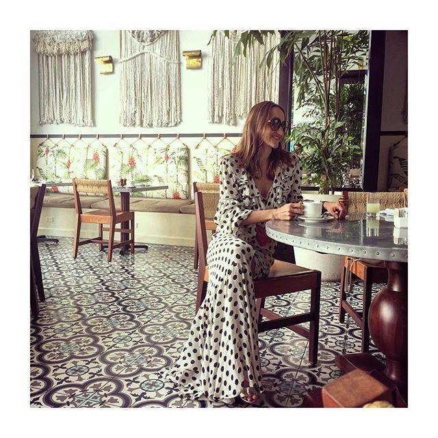 "My Dear friend Cata Londoño in White & Black ""ink dot"" dress.... #beauty #xmas #fashiondesigner #johannaortiz"