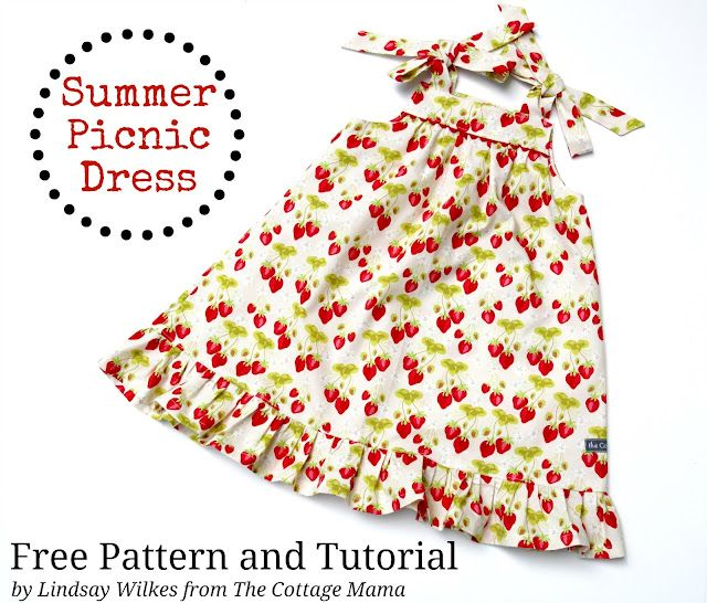 FREE patter and tute. Size 12m to 4.  The Summer Picnic Dress.