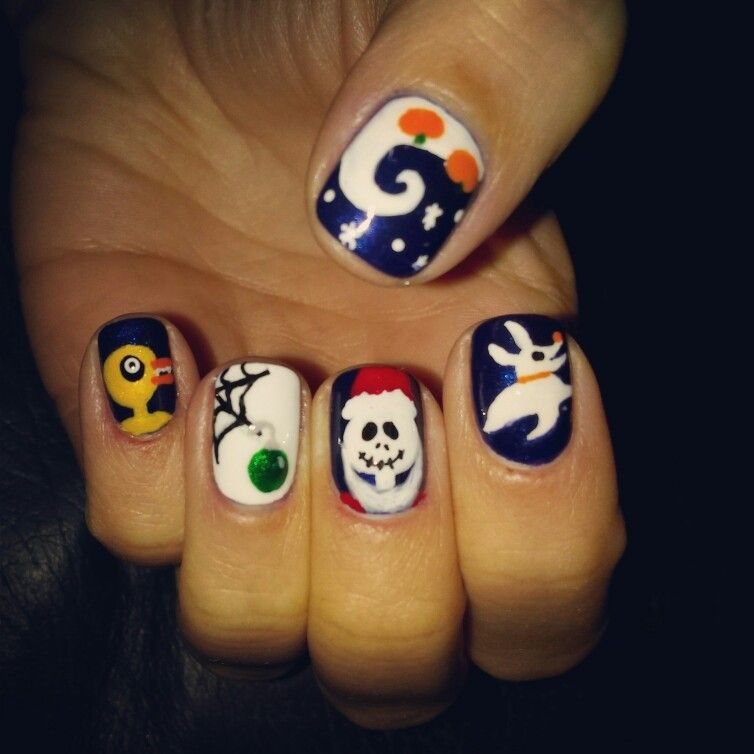 Colorful Jack Nightmare Before Christmas Nails Gift - Nail Art ...