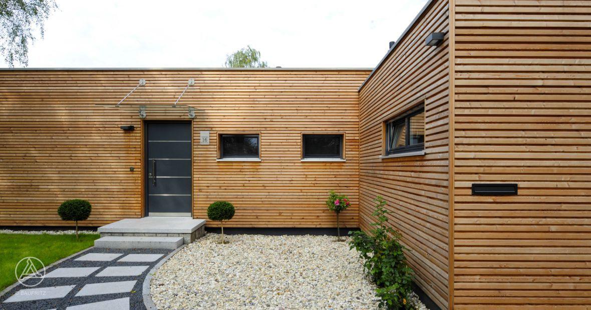 Bei Diesem Modernen Bungalow Stand Das Wohnen Auf Einer Etage Im  Vordergrund.   Baufritz