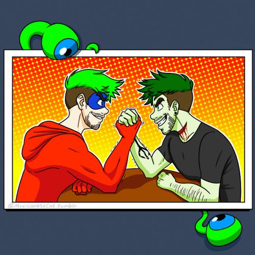 Who would win in an arm wrestling match?! Jackieboy Man? Or