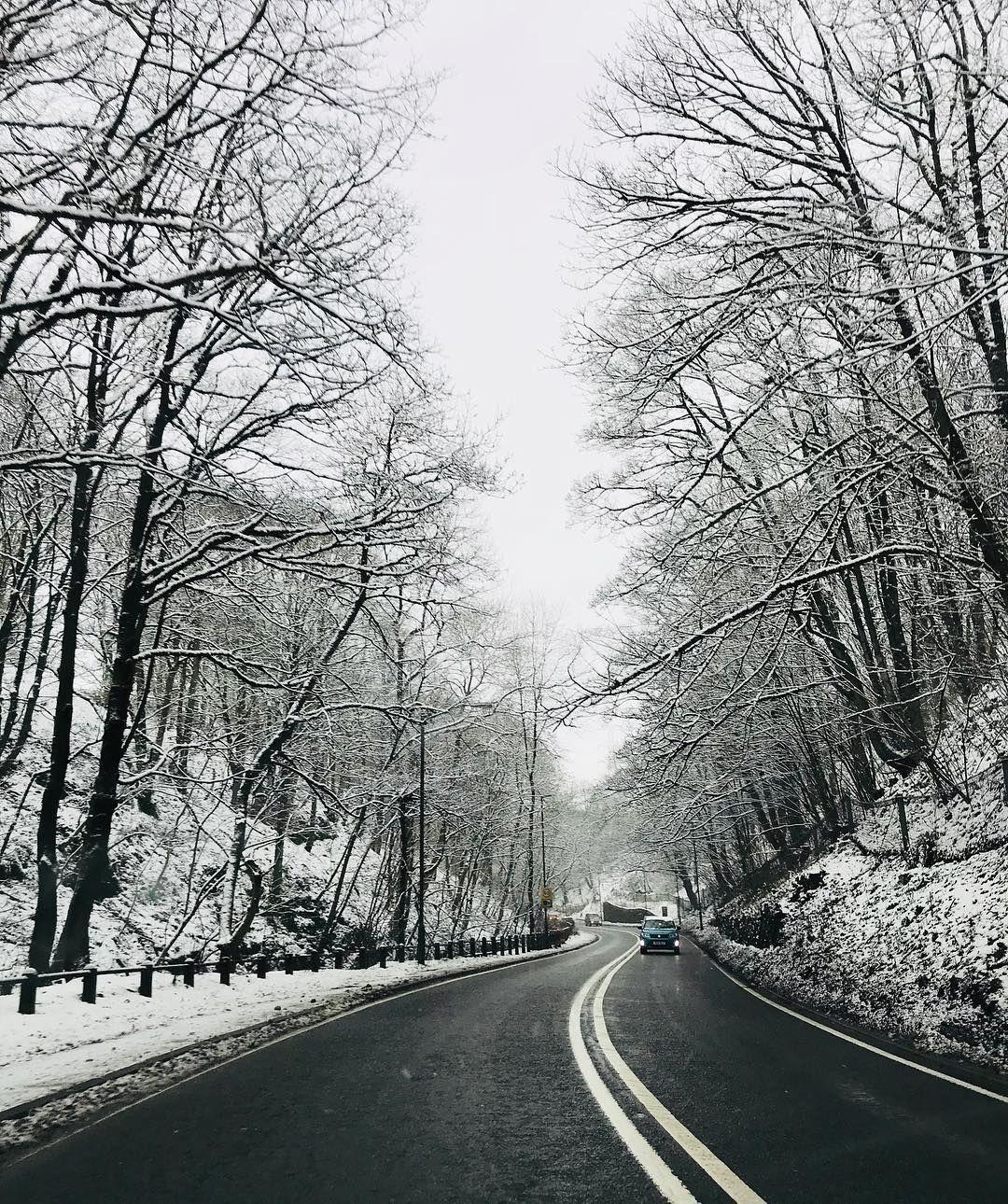 Snowy Derbyshire Derbyshire, Peak District, England