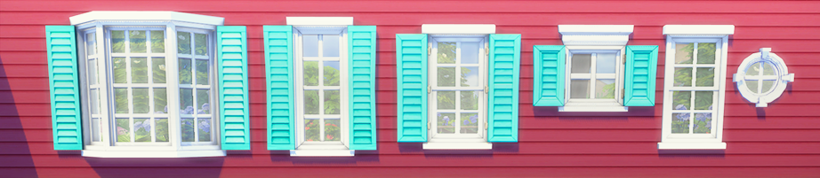 "♦⁴ Followers Gift Windows + Doors + Planter Box Recolors ""So I have this huge followers gift to share with you all today! This is a set of recolors. The set includes some of my most favorable doors,..."
