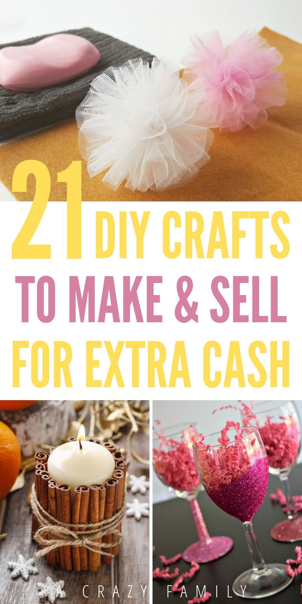 20 DIY Crafts To Make And Sell For Extra Cash   Diy gifts to sell ...