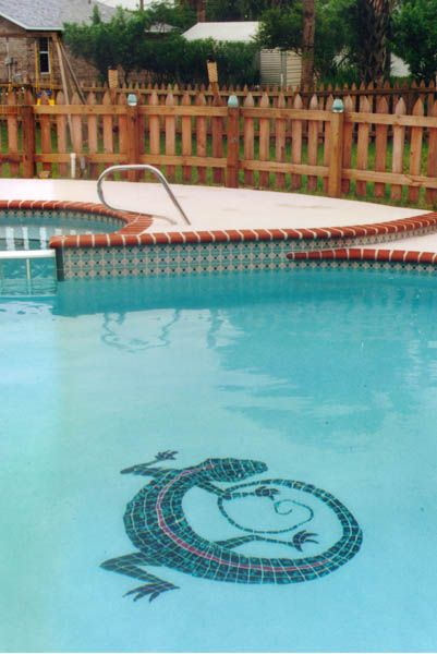 Custom Lizard Pool Design By Artistry In Mosaics Available At Abm