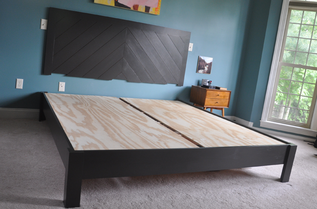 DIY Hotel Style Headboard & Platform Bed in 2020 Diy
