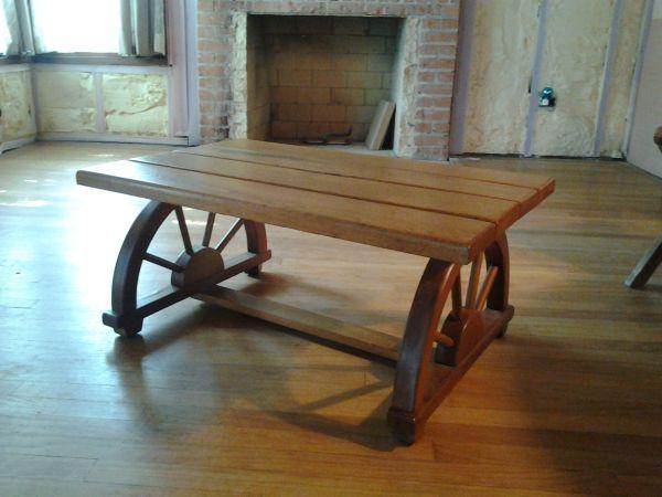 Vintage Mid Century Cowboy Coffee Table