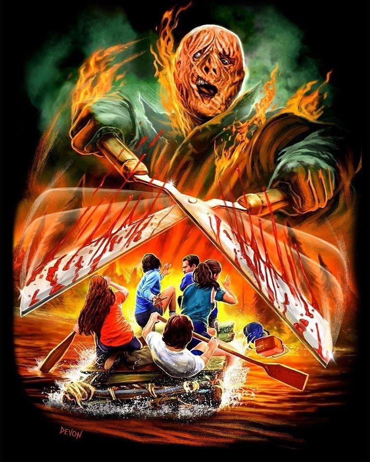 the burning 1981 horror art horror art pinterest