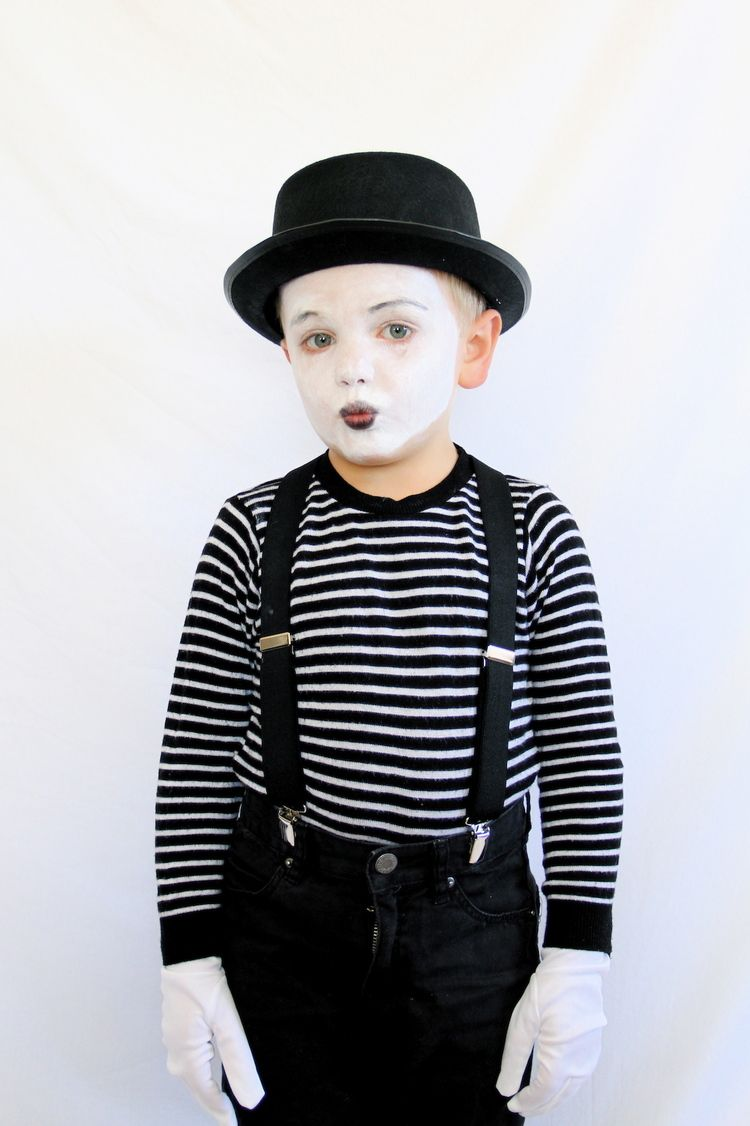 8 adorable last minute halloween costumes for kids - Mime For Halloween
