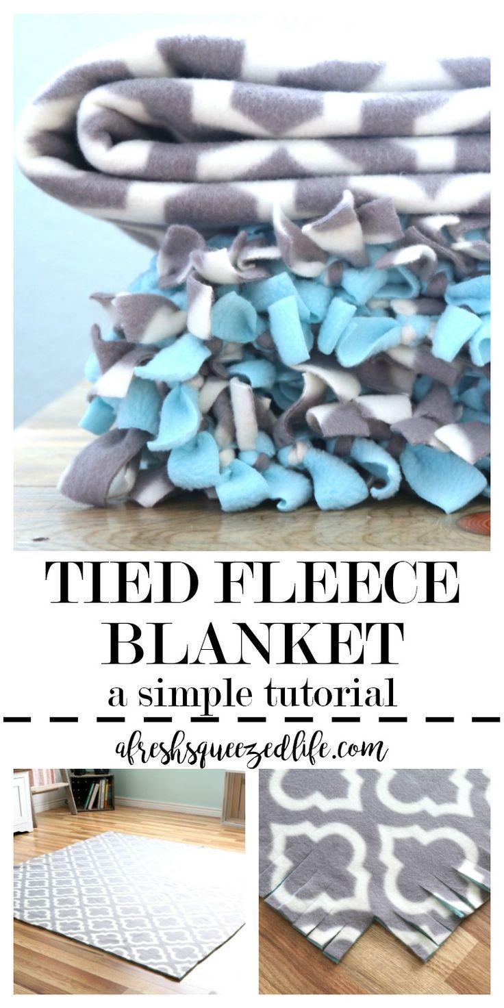 Tied fleece blanket a tutorial cozy blankets blanket and diy
