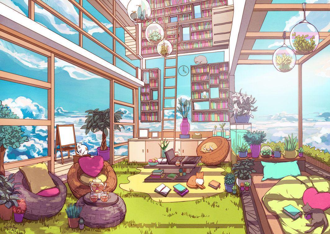 外国人 快適そうな部屋でアニメキャラが過ごしてる絵がたまらなく好き