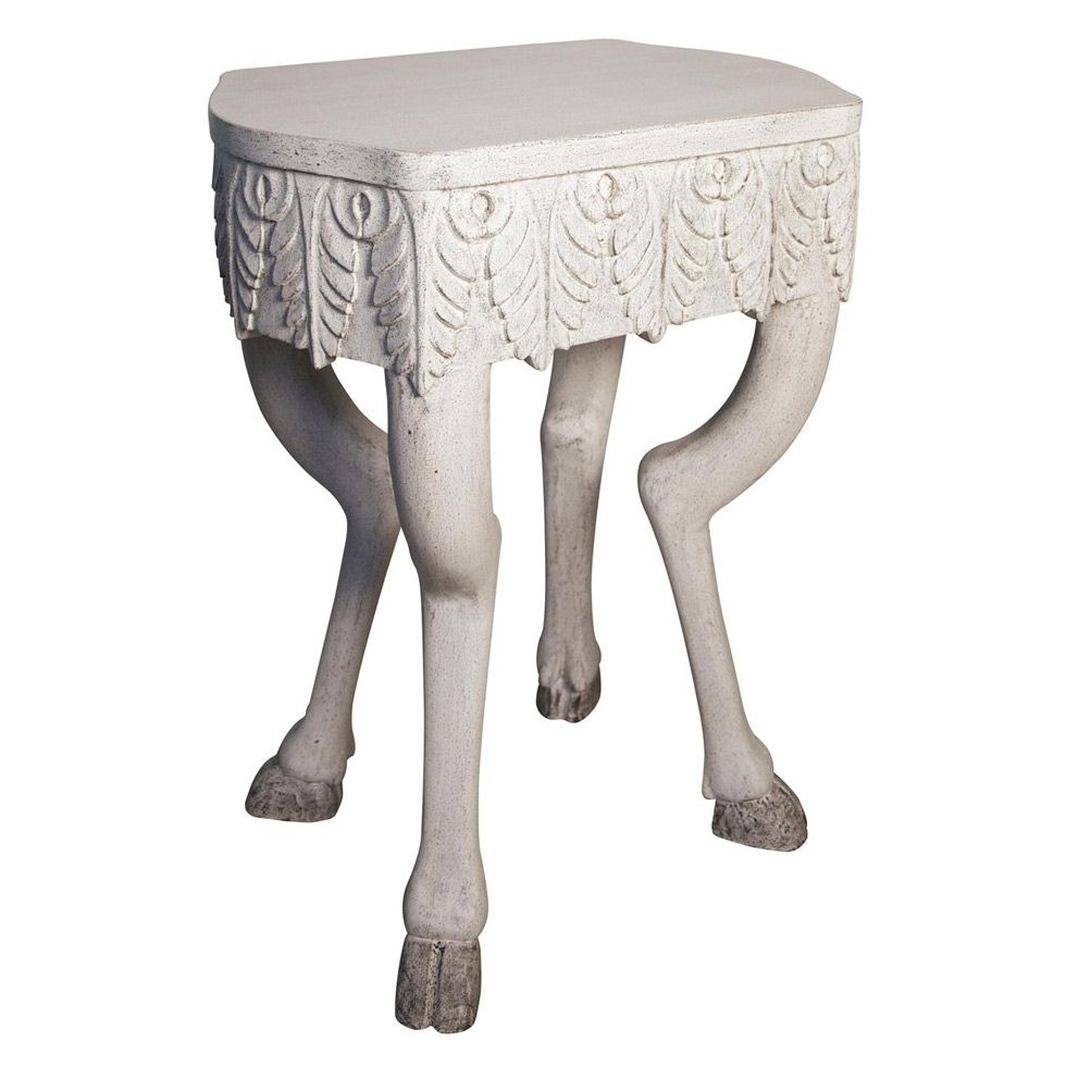 Noir Pegas Side Table White Weathered @Zinc_Door