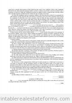 Printable Contract In Form Of Offer And Acceptance Template