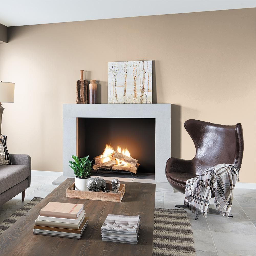 Behr Premium Plus 1 Qt N260 2 Almond Latte Flat Low Odor Interior Paint And Primer In One 105004 The Home Depot Colores De Interiores Decoraciones De Casa Interiores