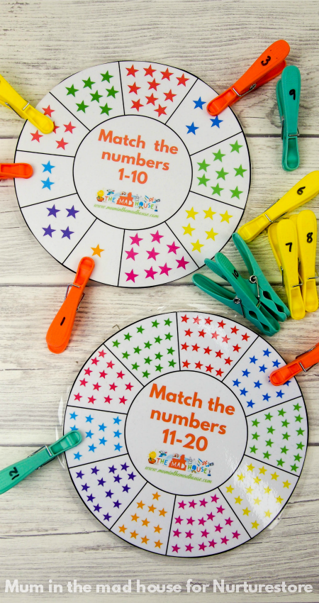 Printable number wheel cards Free printable numbers