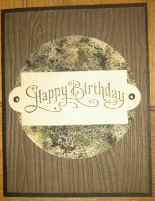 Stampin up camo birthday card male guy man camo circle made stampin up camo birthday card male guy man camo circle made with spritzer bookmarktalkfo Image collections