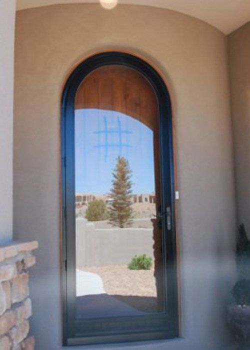 Full View Round Top Door Arch Angle Custom Arched Top