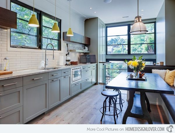 Gray Kitchen Cabinets   Cabbagetown   Contemporary   Kitchen   Toronto    Beauparlant Design Inc /
