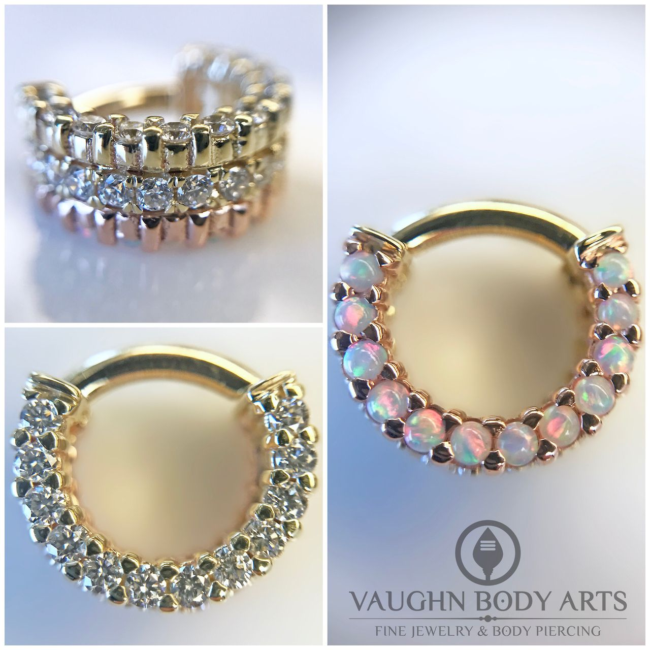 Double nose piercing plus septum  We carry a lot of beautiful body jewelry at Vaughn Body Arts But