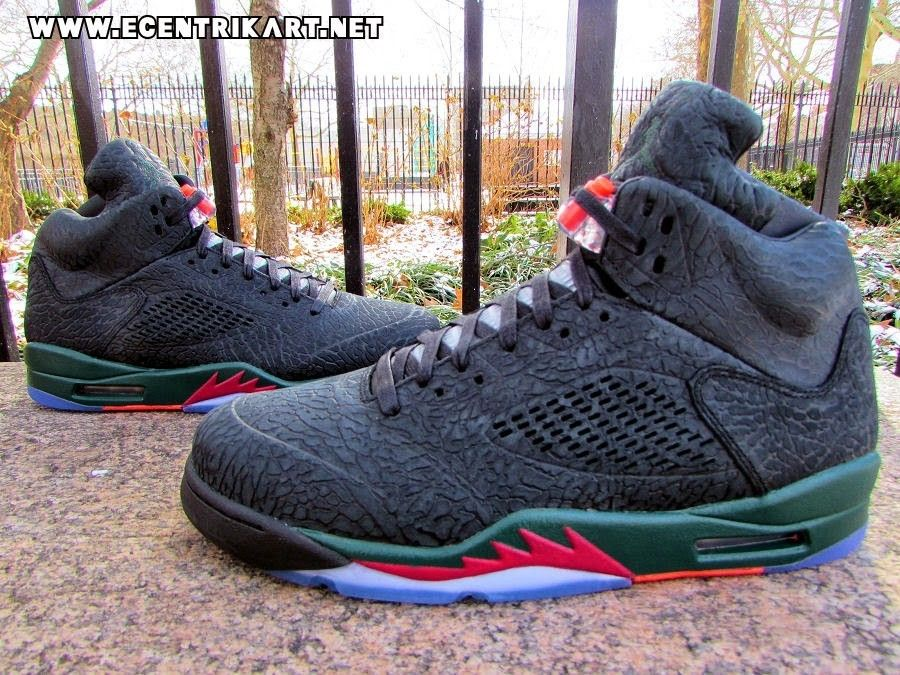Air Jordan 5 Custom 3Lab5 Black Gucci