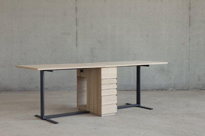 Double Bureau Le Suisse Par Giulio Parini Blog Esprit Design Mobilier De Salon Mobilier Mobilier Design