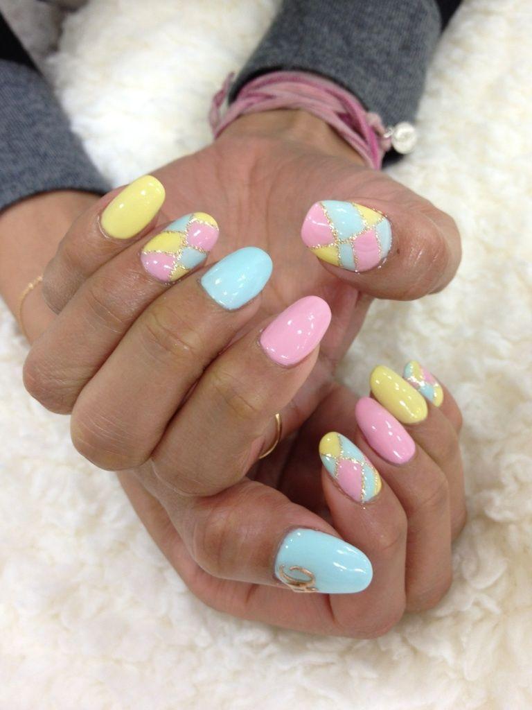 Love.. #pastel #nails #love