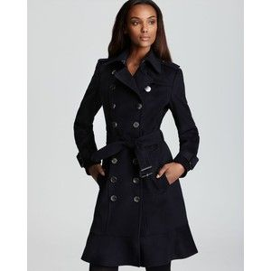 Burberry London Coat - Littleton Double Breasted with Ruffle Hem - more ruffled  coat cuteness.