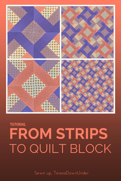 Video tutorial: From strips to quilt block (Hidden wells ... : quilt video - Adamdwight.com