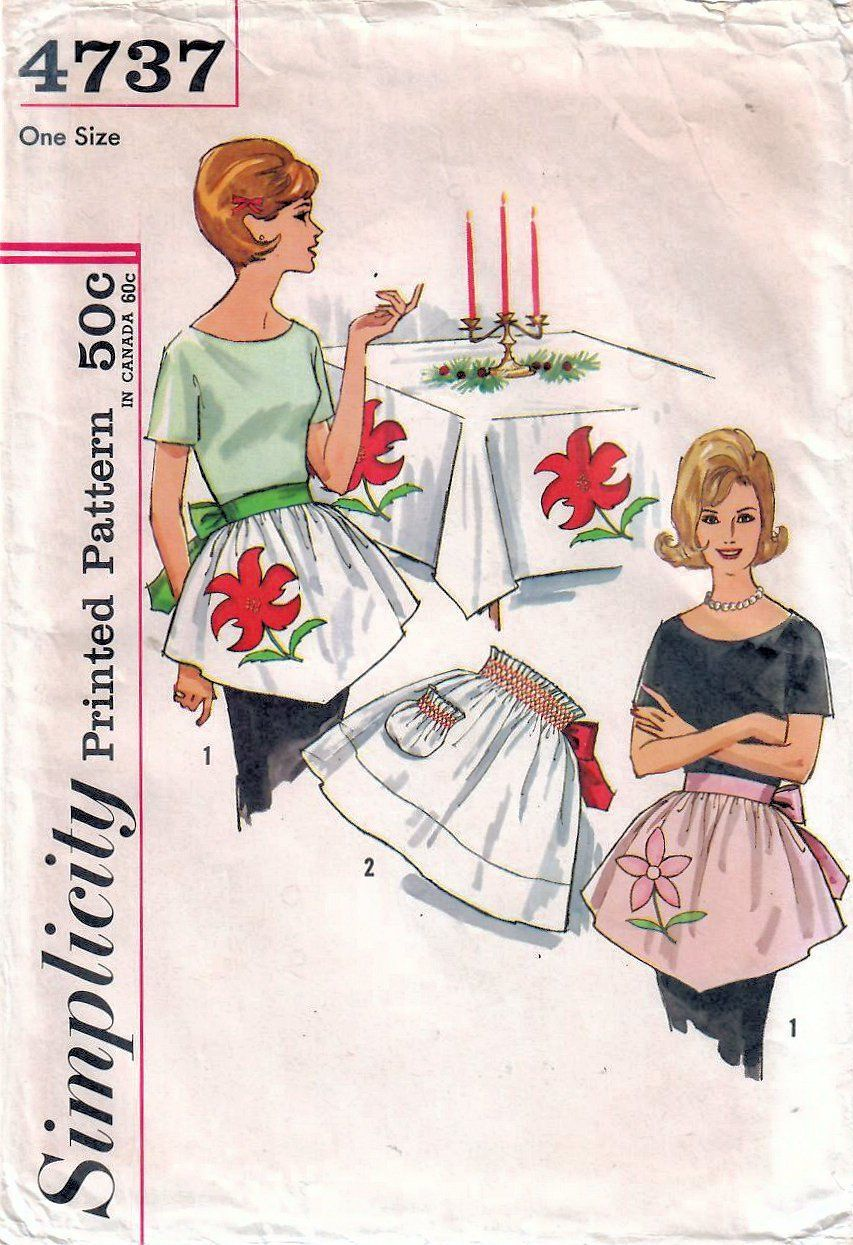 Sew a new apron for the holidays! Add pretty appliques or use smocking to  add