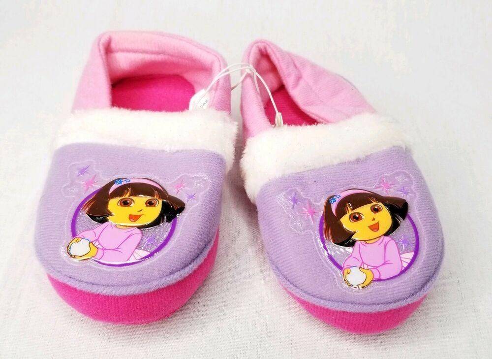 Dora The Explorer Girls Slippers Size M