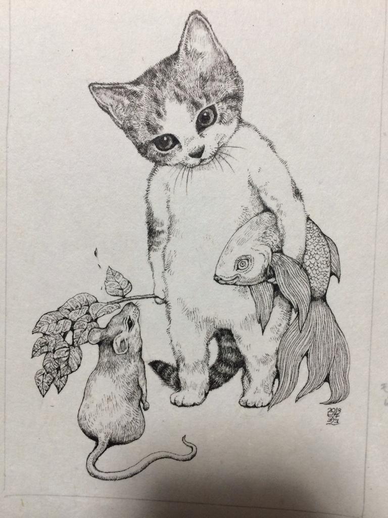 Pin de Sonali en Art | Pinterest | Gato, Ilustraciones y Dibujo