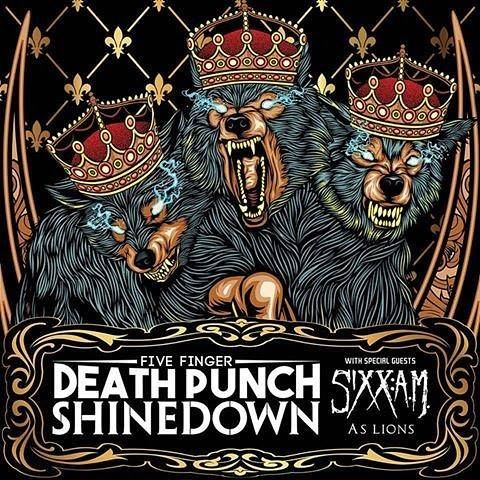 Madison WI! It's your turn to see #Shinedown #5FDP #SixxAM and #AsLions at Alliant Energy Center! Who's going to the show?!   Show info: http://ift.tt/2fT4GUQ