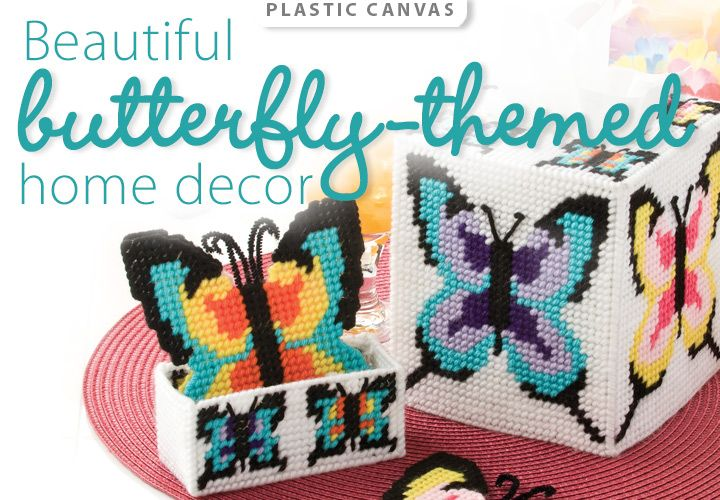 Butterflies Plastic Canvas Pattern from www.AnniesCatalog.com ...
