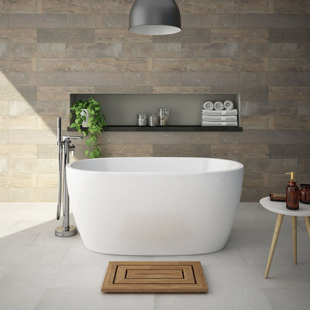 Snowden 1300 Small Modern Freestanding Bath Badkamer In